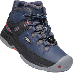 Keen Targhee Mid WP Zapatillas Jóvenes, blue nights/red carpet